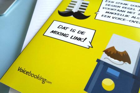 Op dit moment ligt de flyer van VoiceBooking