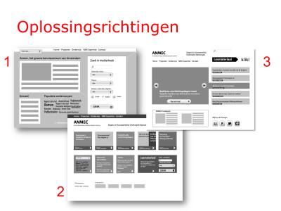 UI design Anmec website