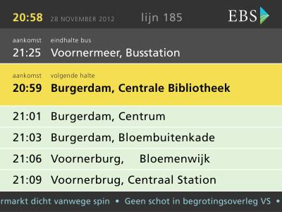In-bus displays voor EBS