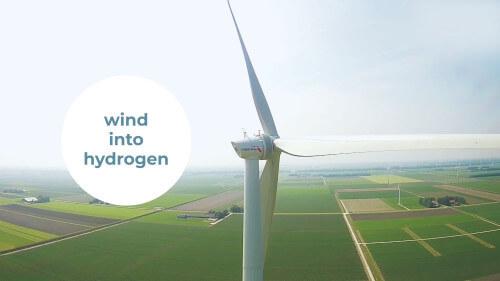 Animatie over waterstof uit wind