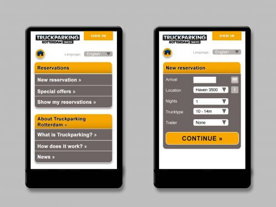 UI design Rotterdam Truckparking